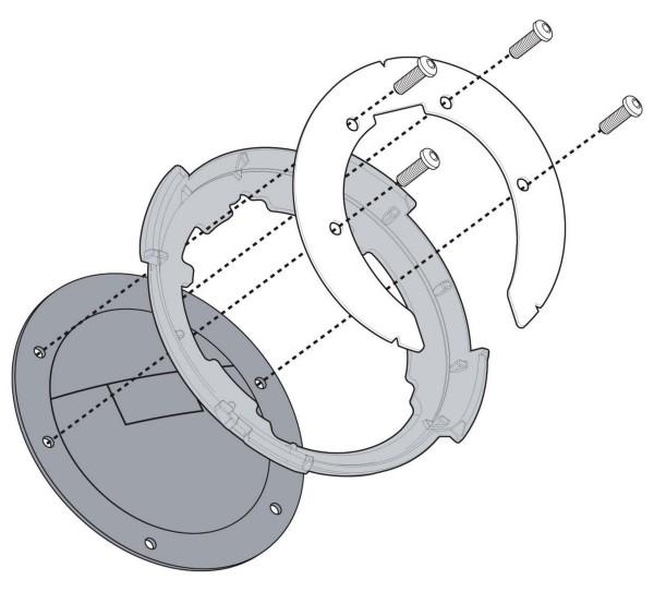 Givi - BF47 Tankbefestigung für Tanklock Tankrucksäcke