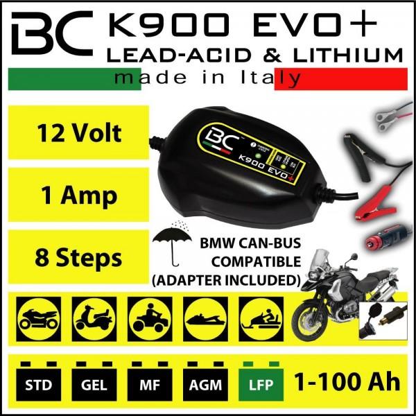 BC - K900 Evo+ Batterieladegerät 12V CAN-Bus / Blei / LiFePo4