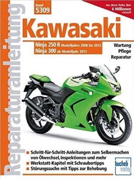 Reparaturanleitung Kawasaki Ninja 250R 2008 bis 2012 und Ninja 300 ab 2013