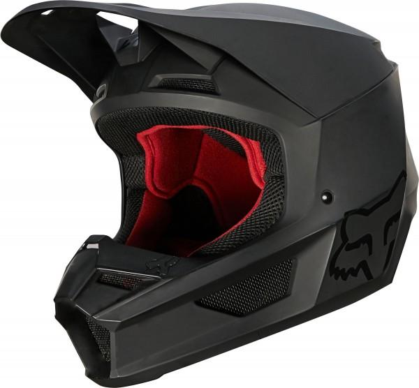 Fox - V1 Matte Helmet Crosshelm Matt Schwarz