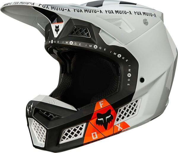 Fox - V3 RS Rigz Helmet mit ECE Crosshelm Schwarz