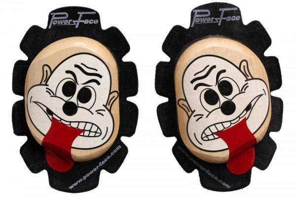 Power Face Knieschleifer Gesicht mit Zunge