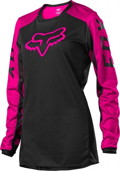 Fox - 180 DJet WMNS Jersey Crosstrikot Schwarz / Pink