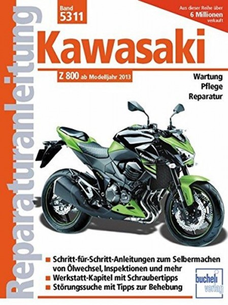 Reparaturanleitungen Kawasaki Z 800: ab Modelljahr 2013