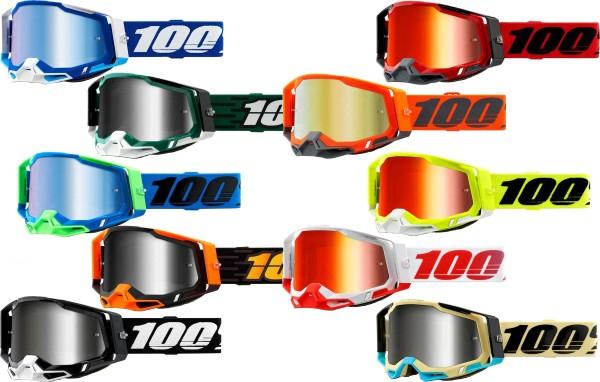 100% - Racecraft 2 Crossbrille Verspiegelt