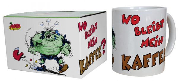 "MOTOmania - Tasse ""Wo bleibt mein Kaffee?"""