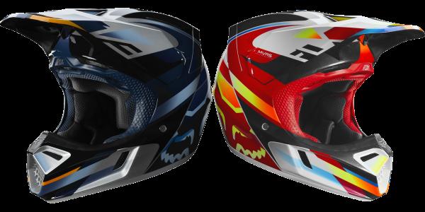 Fox - V3 Motif Helmet Crosshelm