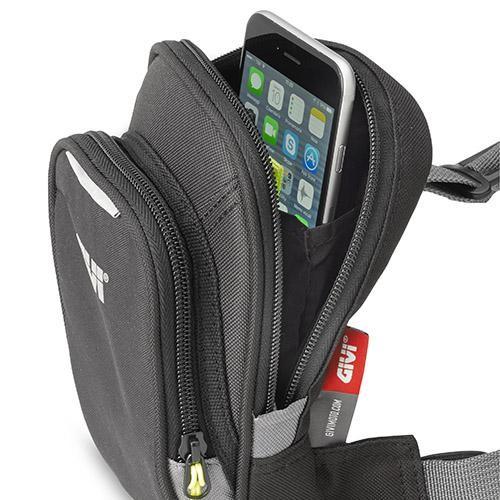 Givi - Easy-T Easy-Bag Beintasche mit 2 Fächern 1L Schwarz