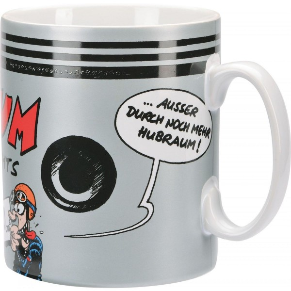 """MOTOmania - Mega Tasse """"Hubraum ist durch nichts zu ersetzen"""""""
