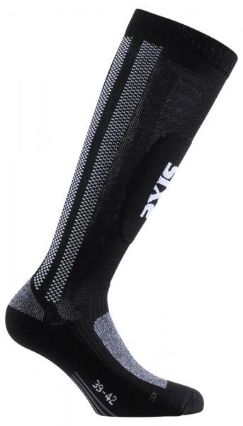 SIXS Lange Socken MOT S schwarz-grau