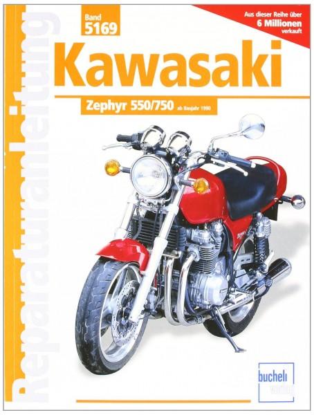 Reparaturanleitung Kawasaki Zephyr 550/750 ab Baujahr 1990