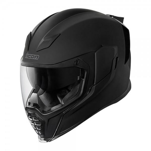 Icon - Airflite Rubatone Matt Schwarz Integral - Helm