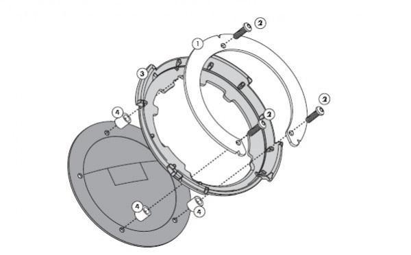 Givi BF21 Tanklock Tankbefestigung nur für Tankdeckel mit 5 Schrauben (Yamaha MT-07)