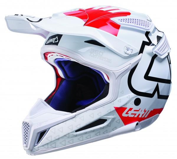 LEATT Helm 5.5 Comp V10 Gr. M weiß/rot
