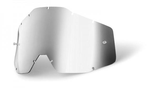 100% - Ersatzglas Racecraft/Accuri/Strata - Silber verspiegelt