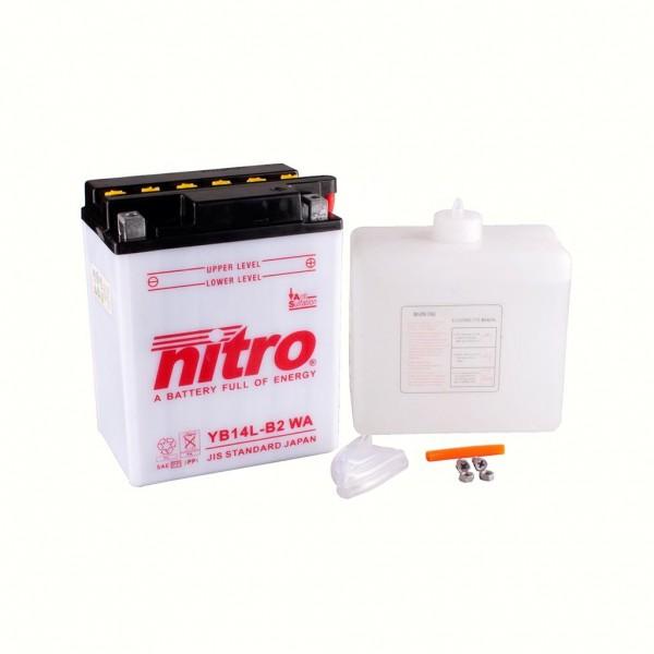 Nitro - Batterie YB14L-B2 WA Blei-Säure