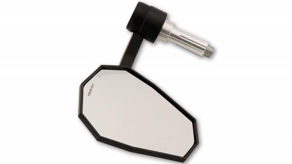 Highsider - Stealth-X7 Lenkerendenspiegel mit LED-Blinker Schwarz