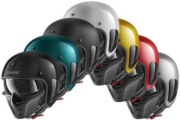 Shark - S-Drak Blank Uni Jet - Helm